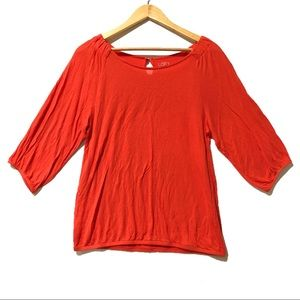 Orange Long Sleeve Top i